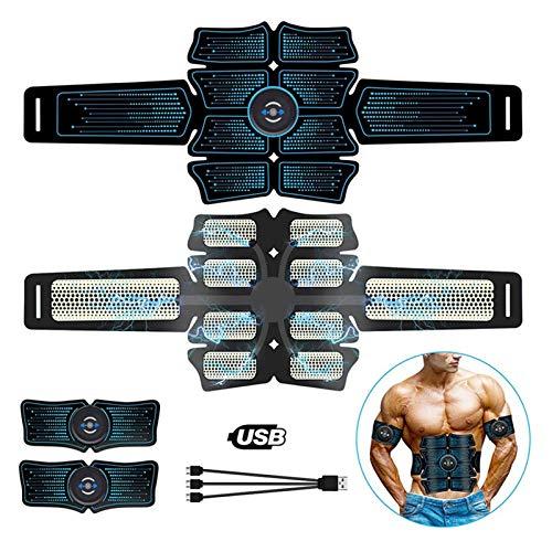 LXF JIAJU EMS Muscle Muscle Stimulator ABS Fitness Equipo de Entrenamiento Músculos de Entrenamiento Electrostimulador Vibrante Ejercicio en casa Gimnasio