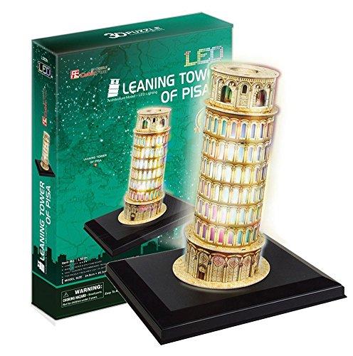 PLAYSTORE 3D Puzzle LED Torre Inclinada DE Pisa 15 Piezas