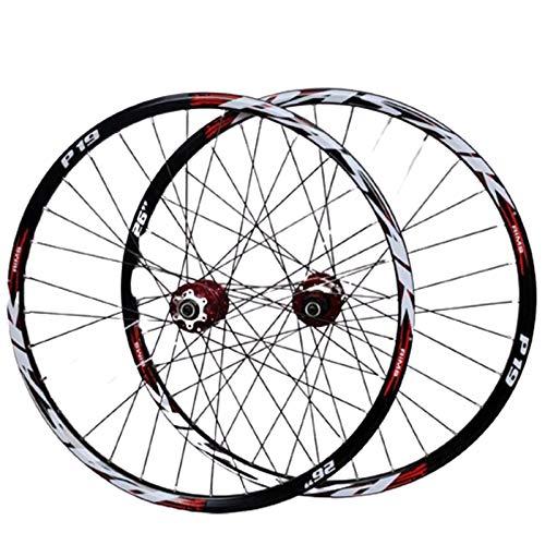 YSHUAI 26, 27.5, 29Zoll Mountainbike-Radsatz Fahrradrad Laufradsatz (Vorne + Hinten) Doppelwandige Aus Aluminiumlegierung Mit Schnellwechsel Scheibenbremse 32H 7-11-Gang-Kassette,A,29inch