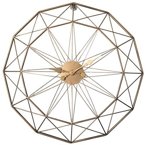Riva776Yale 60cm Tipo Retro Reloj de Pared de Hierro Arte silencioso - Dorado