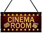 Carteles de madera, 15 x 33 cm, para sala de cine en casa, regalo para mamá, papá, hombre, cueva, habitación familiar, regalo para decoración del hogar