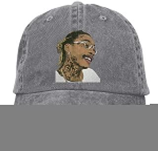 goodbe Wiz Khalifa Adjustable Leisure Cotton Washed Denim Cap Hat Black