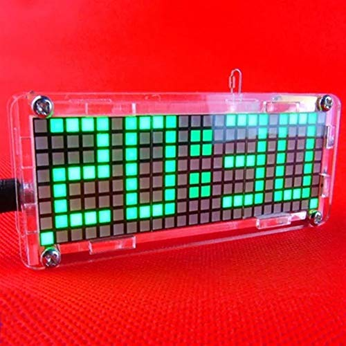 Anfänger DIY Module Kit-Komponenten Praxis Platte LED elektronische Uhr Kit Temperatur 24 Stunden Anzeige 5V DIY Dot Matrix Digit - Blau Brett-Modul für elektronischen Anzug Board (Farbe : Green)