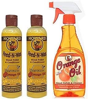 Howard オレンジオイル(16oz) & フィーデンワックス(8oz×2本=16oz) セット