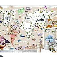 写真の壁紙3D立体空間カスタム大規模な壁紙の壁紙 漫画の地図の壁の装飾リビングルームの寝室の壁紙の壁の壁画の壁紙テレビのソファの背景家の装飾壁画-200X140cm(78 x 55インチ)