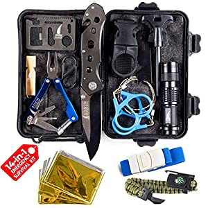 Corona Virus protection products Survival Kit Tactical Camping Gear 14 in 1 Backpack Hiking Outdoor