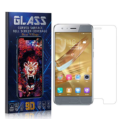 Tempered Glass Screen Protector for Huawei Honor 9, Bear Village HD Crystal Clear Screen Protector Film for Huawei Honor 9, Bubble Free, 9H Hardness, 4 Pack