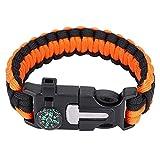 Survival Bracelets Hunting Hiking Paracord Kit...