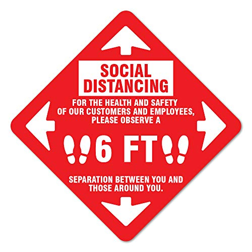SIgnMission Coronavirus Social Distancing for Health and Safety Non-Slip Floor Graphic | 7' Vinyl Decal | Protect Your Business, Work Place & Customers | Made in The USA,Model Number: FD-X-7-99995