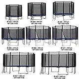 Baunsal GmbH & Co.KG Gartentrampolin Kindertrampolin Trampolin 487 bis 490 cm blau komplettes Set mit Sicherheitsnetz und Einstiegsleiter …