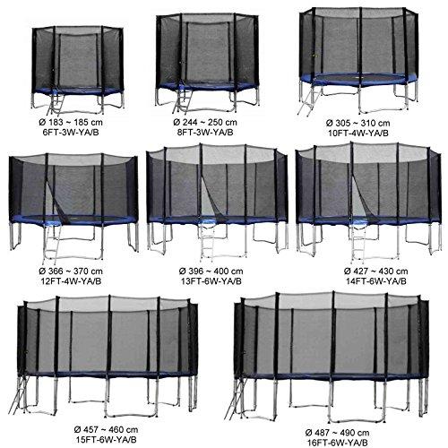 Baunsal GmbH & Co.KG Gartentrampolin Kindertrampolin Trampolin 305 bis 310 cm blau komplettes Set mit Sicherheitsnetz und Einstiegsleiter …