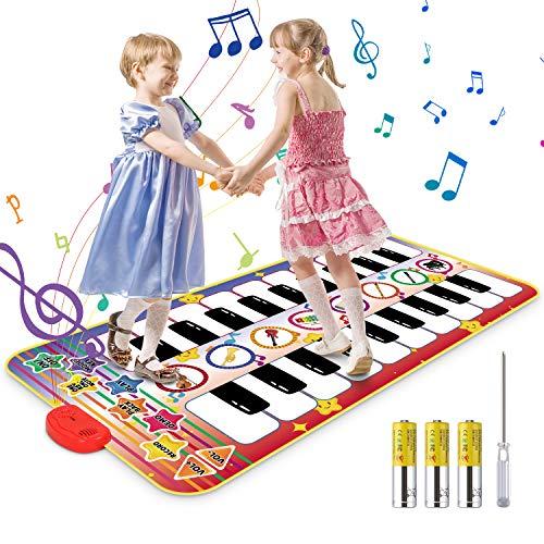 Vimzone Alfombrilla Musical para Piano, Alfombrilla para Pia
