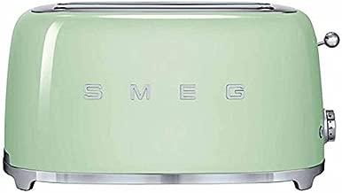 Smeg TSF02PGUS 50's Retro Style Aesthetic 4 Slice Toaster, Pastel Green