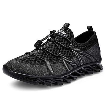 ANLUKE Men s Trail Running Shoes Mesh Breathable Trail Runners Lightweight Sport Gym Jogging Walking Sneakers 1912Grey 43