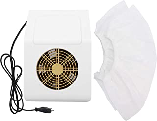 ネイル集塵機、ネイル掃除機、40ワットネイルアートマニキュアツールネイルアートサクションマシンネイルダストクリーナー用プロフェッショナルネイルサロンと人(ホワイトUSプラグ)