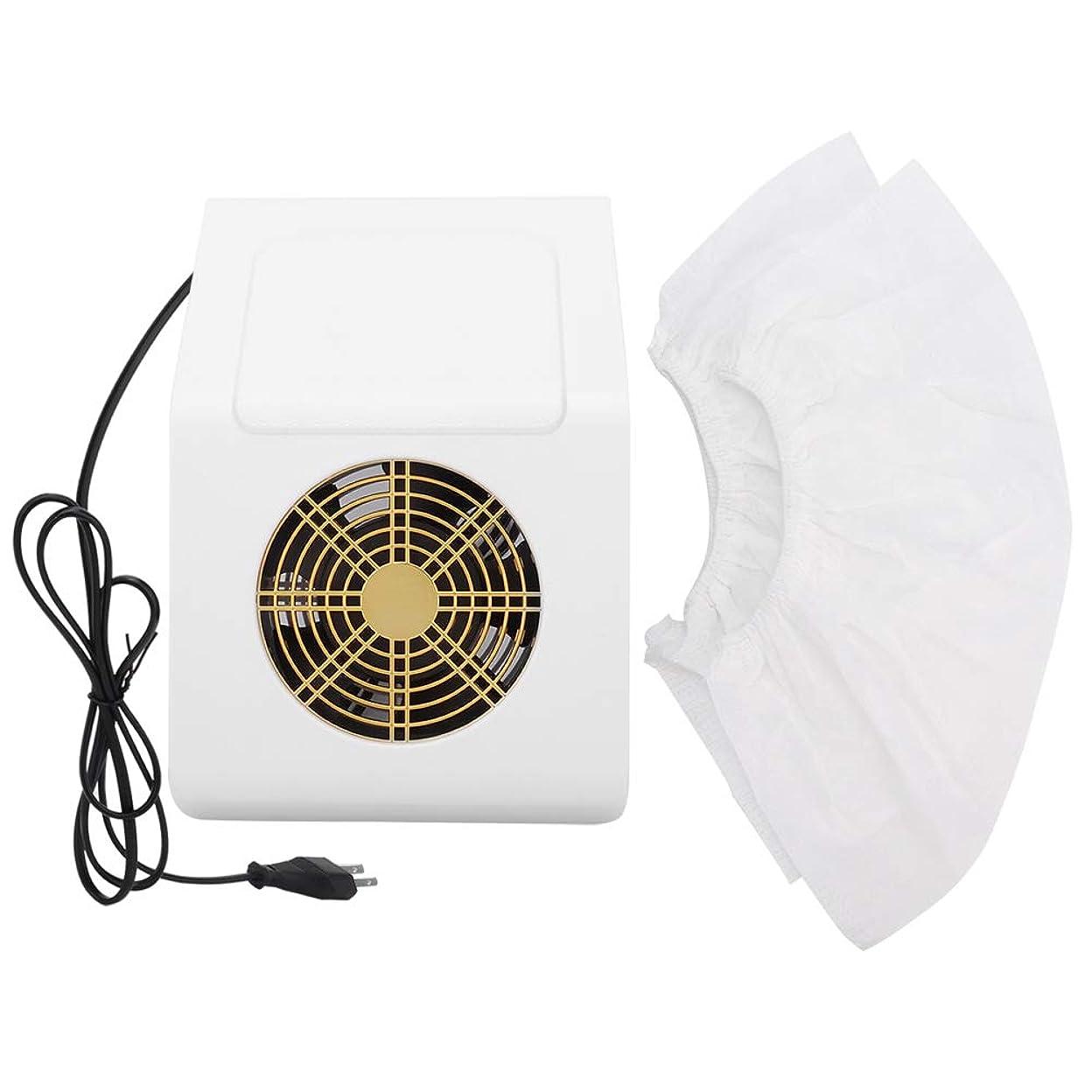 反対習熟度克服する40Wネイル集塵機、フィルター付きネイルアート吸引機掃除機マニキュアツール(白いUSプラグ)