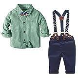 Nwada Toddler Boy Gentleman Outfit Kids Green...