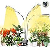 VOGEK Plant Grow Light, Grow Light for Indoor Plants, Plant Light Full Spectrum for Seedlings with Timer, Adjustable Gooseneck & Desk Clip On, 3 Switch Modes, 10 Brightness Settings
