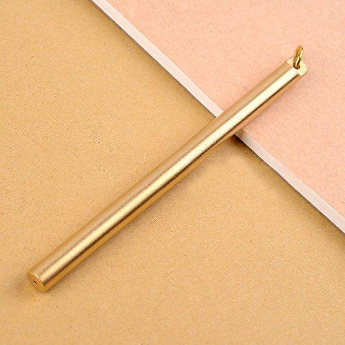 EKLOEN Solid Brass Pen Sign Pen, Portable EDC Pocket Pen Ballpoint Pen...