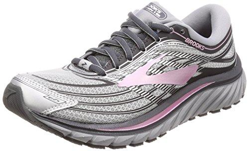 Brooks Womens Glycerin 15 Running Shoe Silver/Grey/Rose, 6.5