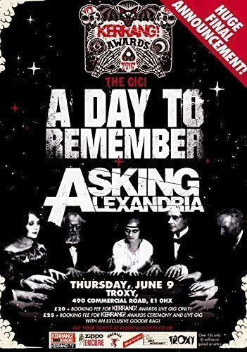 Generic Kerrang Awards 2016 A Day to Remember Asking Alexandria Foto Poster 001 (A5-A4-A3) - A5