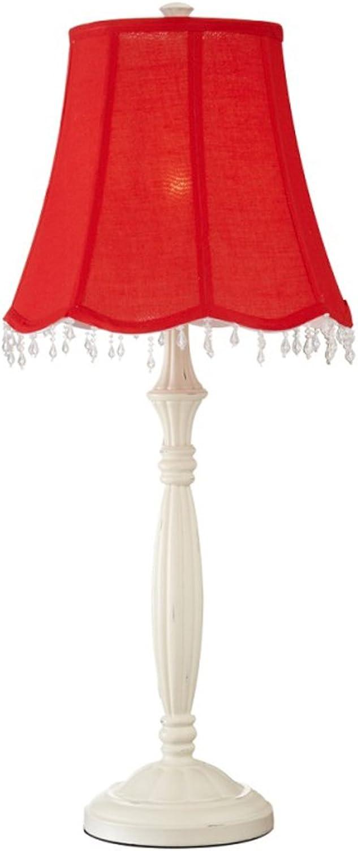 2016 neue moderne minimalistische Wohnzimmer Lampe Tisch Dekoration Licht Mode Hochzeit rot Schlafzimmer Lampe Nachttischlampe B07FKG8JPR     | Zarte