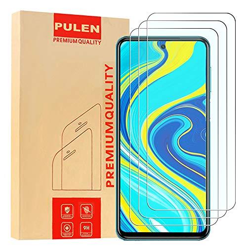 PULEN [3 Pack] Pellicola Protettiva Compatibile con Xiaomi Redmi Note 9s/Note 9 Pro/Redmi Note 9 Pro Max, in Vetro temperato di Alta qualità [Senza Bolle][Anti-Impronta] HD Resistente ai Graffi