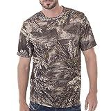 Realtree Men's Short Sleeve Performance T-Shirt, Large, Realtree Max XT Camouflage