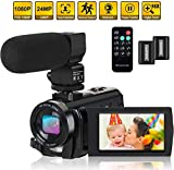 "SEREE VC27 Camcorder Videokamera Ultra HD 24.0MP WiFi Digitalkamera IR Nachtsicht 3.0""IPS Touchscreen"
