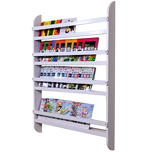 WyaengHai boekenkast, 4 niveaus, wandkast, boekenkast, van hout, eenvoudig te monteren