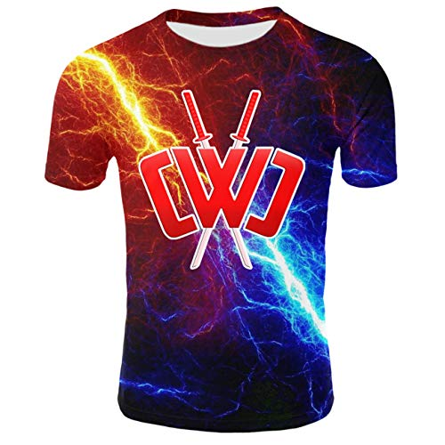 Kids Chad Wild Clay CMC Gamer Flame 3D Print Shirt Video Game Wild Clay-F-S
