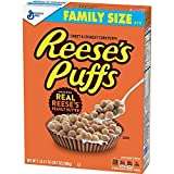Reese's Peanut Butter Puffs, Cereal, Family Size, 20.7 ounces (Pack of 2)