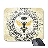 Julyou Mousepad Modern Vintage French Queen Bee Mouse Mat
