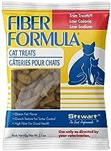Stewart Fiber Formula Cat Treats, Low Sodium, Low Fat, High Fiber, 2.1 oz Pouch