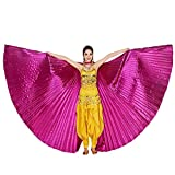 YWLINK Mujer 360 Grados Rendimiento Al Aire Libre Egipto Belly Wings Dancing Costume Accesorios para Danza del Vientre Alas De Mariposa Bien Parecido Fiesta De Coctel Tapiz 142CM