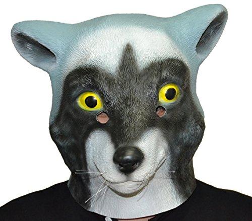 Queenshiny® Latex Tiermaske Halloween-Party-Kostüm (Waschbär)