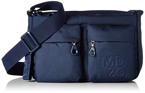 Mandarina Duck Md20 Minuteria, Borsa a Tracolla Donna, Blu (Dress Blue), 9x18x28 centimeters (B x H x T)