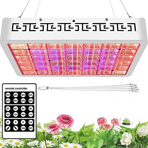 Zotonale 【2020最新版】 1000W 植物育成ライト DIYスペクトラム 単色光輝度調整可能 2?16時間タイミング リモコン付き 日照不足解消 植物成長促進用LEDランプ 屋内植物、野菜および花の場合で最高