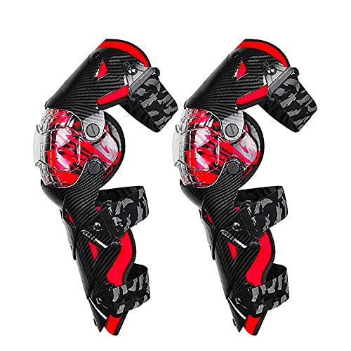 VOMI Ginocchiere Cross Uomo, Ginocchio Moto Adulti Ajustable Flessibili Protezione del Giunto...
