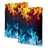 Fire and Ice Abstract IPad Case Anti-Slip Lining Protective Case Multi-Angle Support Shell Stand Cover 360 Degree Rotating IPad Air Case Protector with Auto Wake/Sleep for Ipad Air3/pro 10.5 in