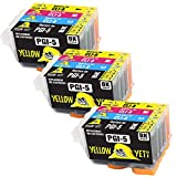Yellow Yeti Reemplazo para Canon PGI-5 CLI-8 Cartuchos de Tinta compatibles con Canon Pixma iX4000 iX5000 iP3300 iP3500 MP510 MP520 MX700 (3 Negro + 3 Cian + 3 Magenta + 3 Amarillo)
