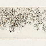 Vintage Apple Tree Canvas Printmaking Farmhouse Gallery Arte de la pared Imagen de la planta Pintura Decoración rústica del país 60x80cmx1 Marco interior