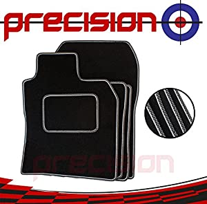 Precision  MW NEW MINI COOPER 5DR  F55  2014-2017 Fitted Tailored Black Classic Carpet Car Mats with Sports Check SSSQ206SPCH