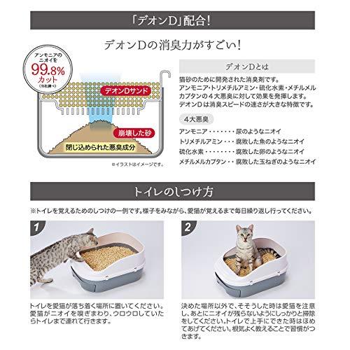 ペティオ(Petio)システムトイレ用システムトイレセットトイレに流せる猫砂デオンDサンド付[約1ヶ月分]