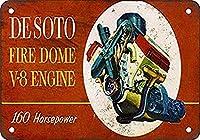 De Soto Fire Dome Engine メタルポスター壁画ショップ看板ショップ看板表示板金属板ブリキ看板情報防水装飾レストラン日本食料品店カフェ旅行用品誕生日新年クリスマスパーティーギフト