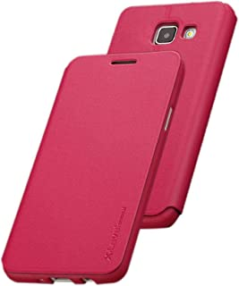 X-level FibColor Leather Flip Case Cover with Screen Protector for Samsung Galaxy A3 (2017) A320F in Pink