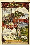 Vintage-Poster Normandie und Bretagne, groß, 50 x 70 cm