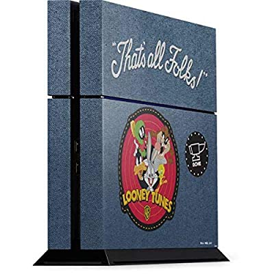 Skinit Decal Gaming Skin for PS4 Console - Officially Licensed Warner Bros Thats All Folks Patch Design