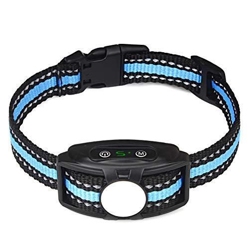 KALENI. Bark Collar, No Shock Rechargeable Dog Training Collar with Adjustable Sensitivity and Intensity Beep, Anti-Barking Collar Corrects Barking with Small Medium Large Dogs