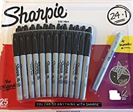 Sharpie Permanent Marker - Black 24+1 Pack